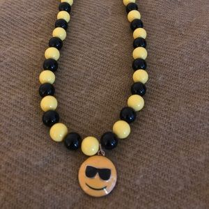 Smiling face necklace